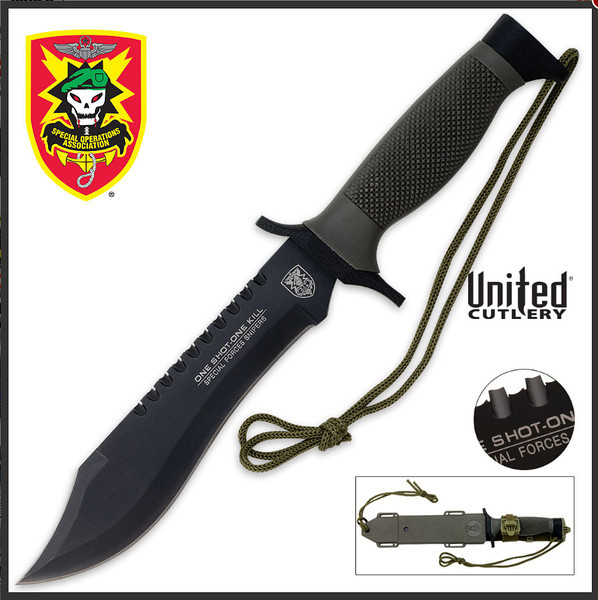 United Cutlery Cheap Survival Knife @ $20 but seems to take a fine sharp edge!