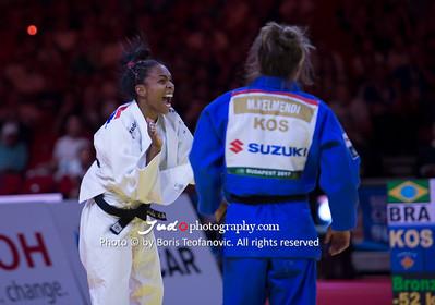 2017 Suzuki World Judo Championships Budapest Day2, BRA, Erika Miranda, KOS, Maijlinda Kelmendi_BT_NIKON D4_20170829__D4B1446
