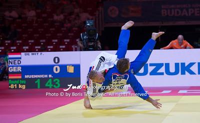 2017 Suzuki World Judo Championships Budapest Day4, Benjamin Muennich, DE WIT Frank, NED_BT_NIKON D4_20170831__D4B4160
