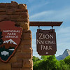 Zion National Park entrance