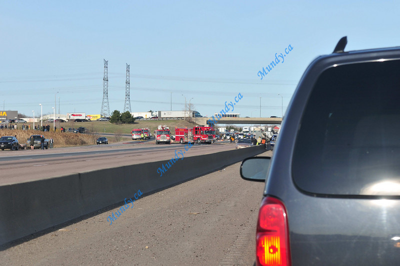 Athough there is no problem with any of the westbound lanes, all 3 are closed.