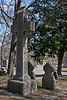 <center>Celtic Cross  <br><br>The Celtic Cross traditionally combines a Roman Christian Cross with a circle connecting the arms.  As the 19th century Celtic Revival spread, this style cross became popular as funerary monuments.  <br><br>North Burial Ground<br>Providence, Rhode Island</center>