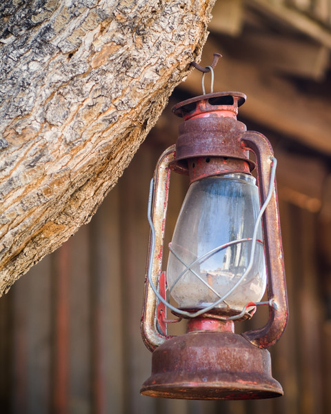 Rusty Hurricane Lamp, Goldfield Ghost Town, Mammoth Mine Road, Goldfield, Arizona