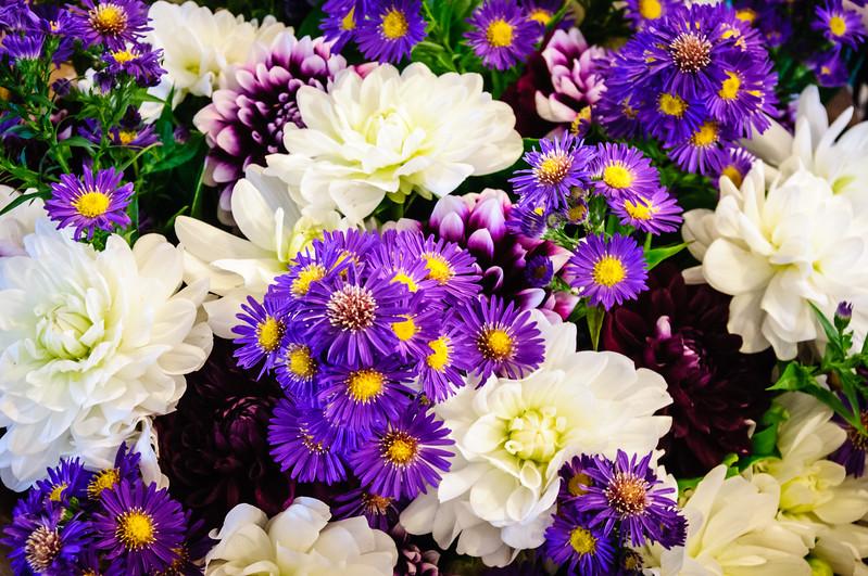 Flower Trader, Main Arcade, Pike Place Market, Seattle, Washington