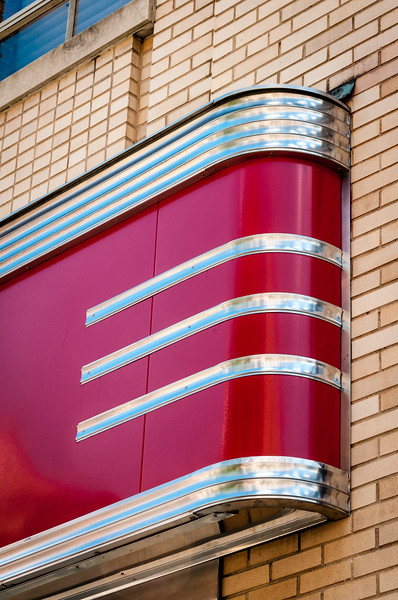 Art-deco facade, Former Woolworths Building, 24 West Campbell Street, Roanoke, VA