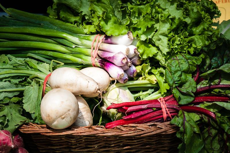 Vegetable Display, Farmers Market, Williamsburg, Viginia