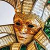 Harlequin mask with musical motif as christmas decoration, Ca' d'Zan Mansion, Ringling Museum, Sarasota, Florida