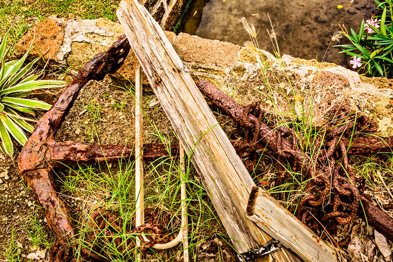 Rusty Anchor and Chain, Nelson's Dockyard, English Harbour, Antigua