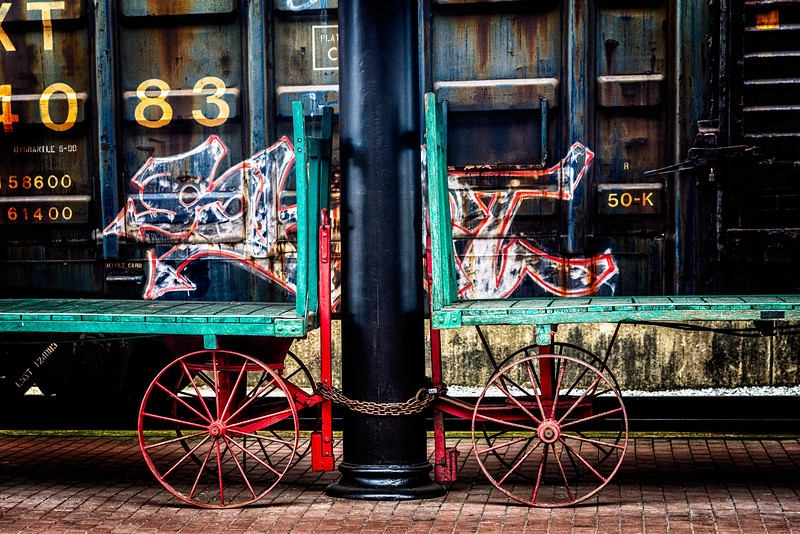 Railroad Baggage Carts, Western Maryland Scenic Railroad Depot, Cumberland, Maryland