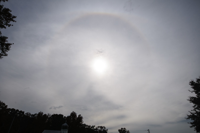 Sunbow from Hurricane Sandy, Prince William County, Virginia