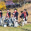 West Jersey Artillery, Continental Army Artillerymen Reenactors firing cannon, Fort Mercer, Red Bank, New Jersey