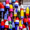 Colorful Lobster Floats, Boothbay Harbor, Maine