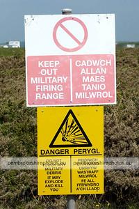 Warning Sign, Coast Path.
