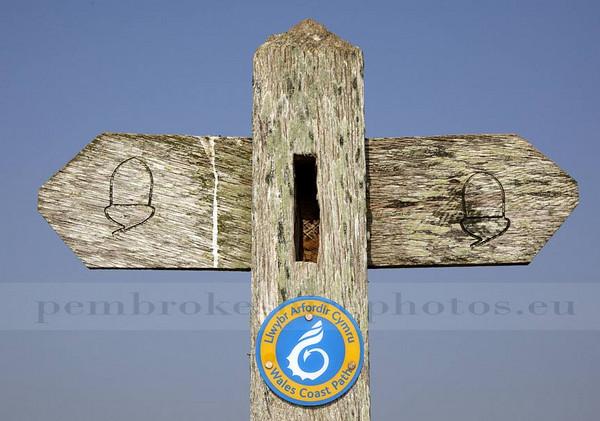 Coast Path Sign.