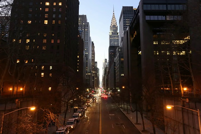 Blue Hour - Looking West on 42nd Street in New York City (12/14/14)