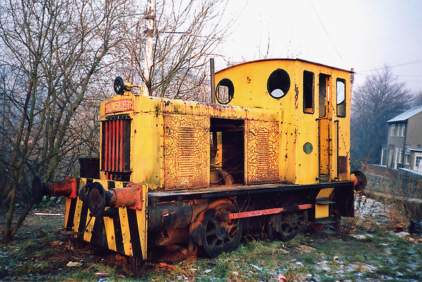 Hunslet Shunter, Linthwaite 1991 (Now preserved as 02641 at the Eureka Centre in Halifax)