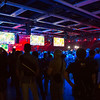 I got a quick moment to check out the hall downstairs. The League of Legends competition setup was insane.