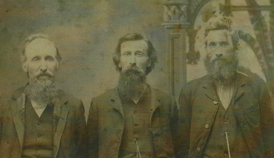 Joseph, Isaac and Emery Rummel. Isaac is Homer Rummel's father and Annabelle Rummel's grandfather.