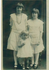 Mildred Lucille, Besse Rosaland and Annabelle Rummel