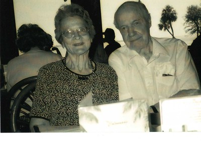 Rosaland Rummel Estey and Ormand on her 90th birthday. March 15, 2002.