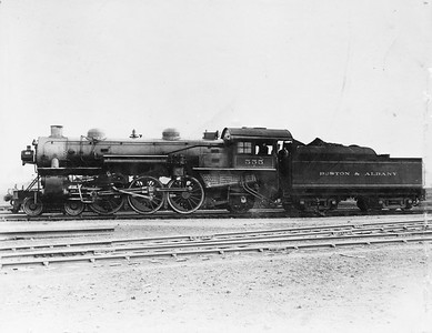 2014.022.15--pauline macdougall collection 8x10 mounted print--Boston & Albany--steam locomotive 4-6-2 555--location unknown--no date