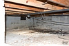 October 11, 2019:  Looking to the northeast inside the crawlspace after all of the debris and old crap was removed.