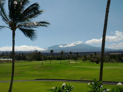 Mauna Kea from my suite in Hawaii.