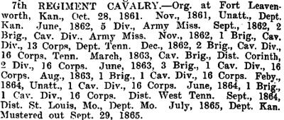 Kansas - 7th Cavalry