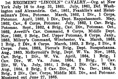 New York - 1st 'Lincoln' Cavalry