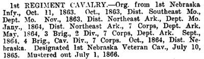 Nebraska - 1st Cavalry