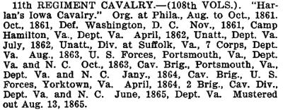 Pennsylvania - 11th Cavalry (108th Vols)