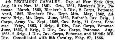 New York - 4th Cavalry