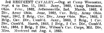 Ohio - 3rd Cavalry