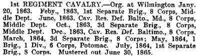 Delaware - 1st Cavalry