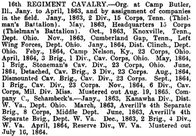 Illinois - 16th Cavalry
