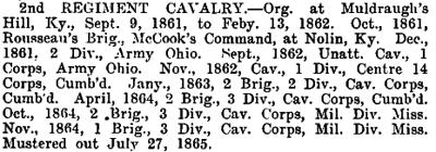 Kentucky - 2nd Cavalry
