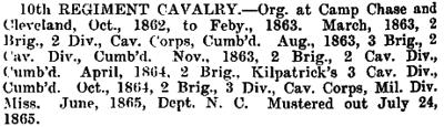 Ohio - 10th Cavalry