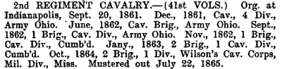 Indiana - 2nd Cavalry (41st Vols)