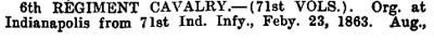 Indiana - 6th Cavalry (71st Vols) 1