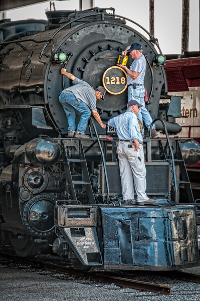 Norfolk & Western Class A #1218 2-6-6-4 Steam Locomotive, Virginia Museum of Transportation, Roanoke, Virginia