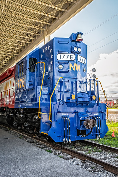Norfolk & Western EMD SD-45 #1776 in Bicentennial paint scheme, Virginia Museum of Transportation, Roanoke, VA
