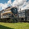 Pennsylvania Railroad GG-1 and Wheeling & Lake Erie Railroad EMD NW2 Switcher. Virginia Museum of Transportation, Roanoke, VA