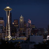 Space Needle at night, from Kerry Park.