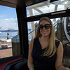 """With Emily in one of the fancy """"VIP"""" gondolas, complete with leatherette bucket seats."""