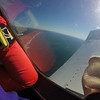 Plane climbing for 20 minutes to 13,000 feet altitude