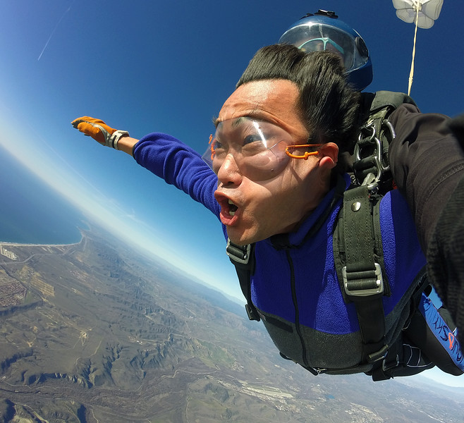 Adrenalin rush requires oxygen! <br /> Where is my ear? At 135mph it's folded in half by the wind!