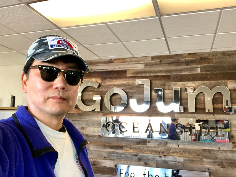 Check-in at GoJump, Oceanside, California