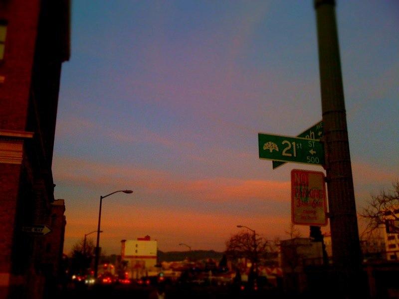 Sunset at 21st Street