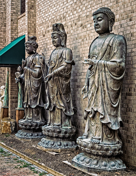 Buddha Statues, Quinn's Auction House, Falls Church, Virginia