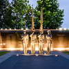 United States Air Force Memorial Honor Guard at Dusk, Arlington, Virginia